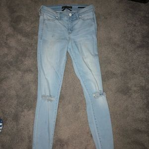 Abercrombie mid rise super skinny ankle jean